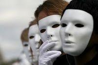 White neutral mask. Found on www.pinterest.com.